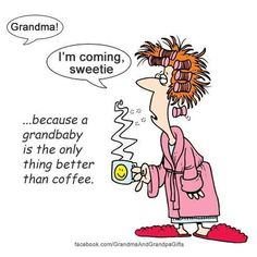 This was me after my girl in the morning~ she had to help me make the coffee. Grandson Quotes, Quotes About Grandchildren, Grandkids Quotes, Grandmother Quotes, Grandma And Grandpa, Grandma Sayings, Funny Quotes, Life Quotes, Nana Quotes