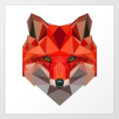 Buy Low poly Fox Art Print by exya. Worldwide shipping available at Society6.com. Just one of millions of high quality products available.