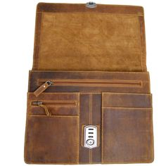 Leather folder Briefcase A4 Portfolio by Ledertaschenshop24