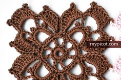 Square Crochet Motif. Diagram + step by step instruction on MyPicot | Free crochet patterns