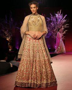 Shop Manish Malhotra replica of bridal lehenga choli 2016. Free stitching and shipping worldwide.