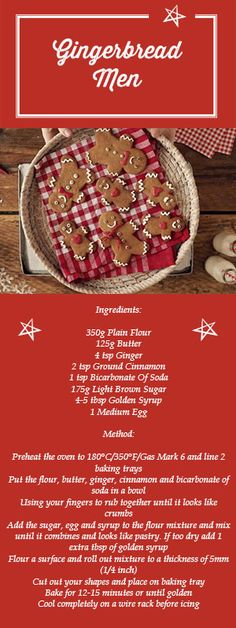 How would you decorate your gingerbread men? This #recipe will make the perfect base for you to practice all your #Christmas decorating skills!