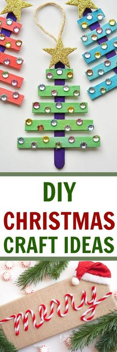 I have got tons of great DIY Christmas Craft Ideas perfect to make this holiday season. You'll love making these DIY Christmas projects with your family. Diy Christmas Ornaments, Diy Christmas Gifts, Christmas Art, Handmade Christmas, Holiday Crafts, Christmas Decorations, Family Christmas, Christmas Ideas, Xmas