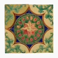 Explore and shop the streets of cities around the world. Motifs Art Nouveau, Art Nouveau Tiles, Art Deco, Tile Art, Mosaic Tiles, Antique Art, Antique Tiles, Antique Pottery, Mudras