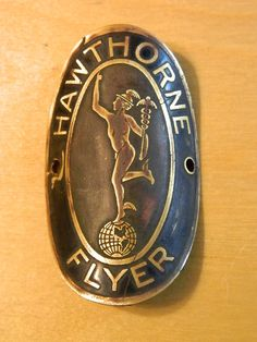 Rare Vintage Pre War Brass Hawthorne Bicycle Head Badge Name Tag Emblem | eBay