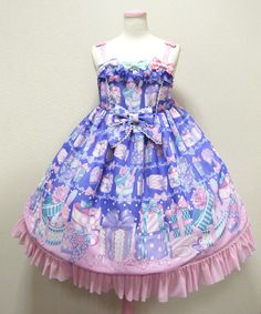 d3b0cad9d136 Angelic Pretty Wrapping Heart JSK in blue Ddlg Outfits, Living Dolls, Angelic  Pretty,