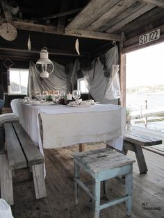 Sjöboden Beautiful Interiors, Dining Table, Rustic, Kitchen, House, Inspiration, Furniture, Home Decor, Ideas
