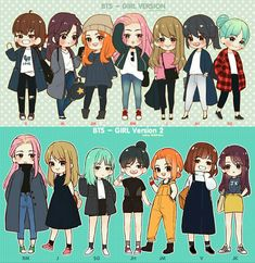 Bts Girl Version 1 & 2      #Bts #GirVersion
