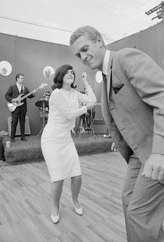 Steve dancing the watusi with LBJ's daughter Lucie Baines Johnson