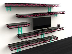 Donkey Kong Inspired Wall Shelves