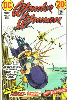 """""""I'll destroy New York!"""" - Wonder Woman #205 - Cover by Nick Cardy"""