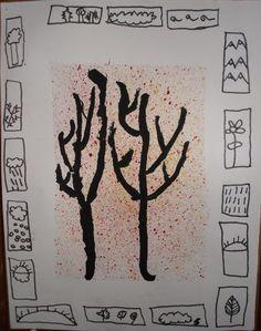 peinture d'automne d'après Alechinsky