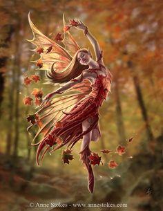 Dancing autumn fairy