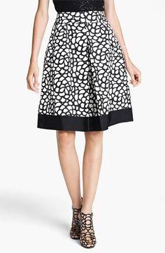 skirt inspiration  Oscar de la Renta Print Pleated Skirt ~ Nordstrom.com