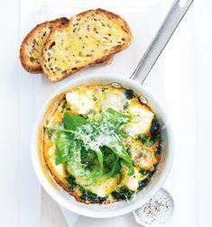 Unser beliebtes Rezept für Drei-Käse-Frittata mit Spinat und mehr als 55.000 weitere kostenlose Rezepte auf LECKER.de.