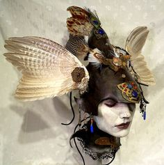 Valkerye headress by VincentCantillon on Etsy, $200.00      *this would make a fantastic birthday present* WINK WINK *