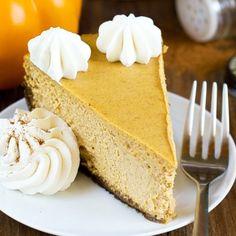 2014 Thanksgiving Pumpkin Pie Gingersnap Cheesecake Recipes - Desserts  #2014 #Thanksgiving #desserts