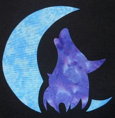 Wolf Moon Quilting Applique Pattern Design by QuiltingSupport, $5.95