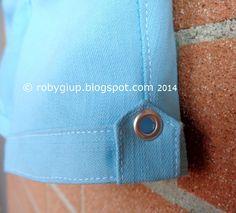 Pantaloncini per bambino con occhiello decorativo - Boy shorts with decorative eyelet #sewing #children #clothing #shorts