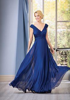 V-neck royal blue mother of the bride dress | Jade j185051 | http://trib.al/M0xVcrU