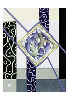 Spazio Archetipale - Tre bande, 2003 - Tecnica mista su carta a mano, cm 41x31