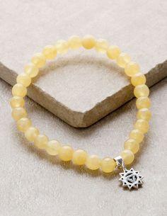 5af0662b6d42 Solar Plexus Chakra Orange Calcite Bracelet