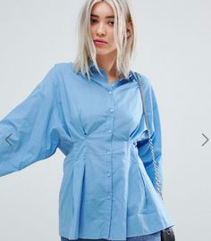 Buy Weekday Sinched In Waist Shirt at ASOS. With free delivery and return options (Ts&Cs apply), online shopping has never been so easy. Get the latest trends with ASOS now. Shirt Blouses, Shirts, Asos, Raincoat, Jackets, Shopping, Fashion, Moda