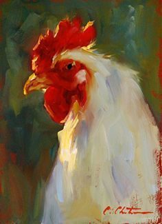 Poser by Cheri Christensen Oil ~ 7 x 5