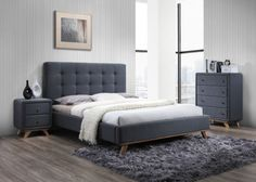 Full size of gray bedroom ideas with dark furniture grey black and white set wood distressed Grey Bedroom Furniture, Brown Furniture, Gray Bedroom, Grey Bedding, Bedroom Bed, Room Ideas Bedroom, Upholstered Beds, Le Moulin, How To Make Bed
