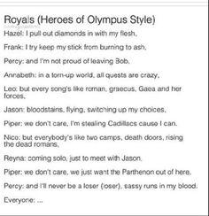 Percy Jackson royals