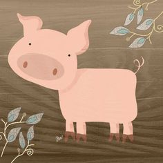 Farm Animals - Pig by hockeychick http://hockeychick.deviantart.com/art/Farm-Animals-Pig-35493451