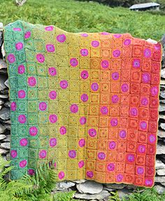 Countisbury Hill Crochet Blanket by Amanda Perkins