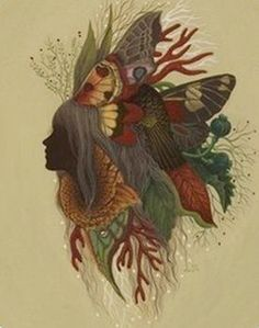mother nature tattoo enchanted forest, like the idea a little too intense on the