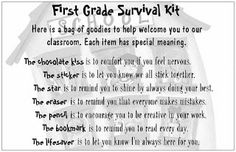 survival kit for first day
