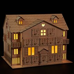 Buy John Lewis Led Wooden Advent House from our Advent Calendars range at John Lewis & Partners. Wooden House Advent Calendar, Advent House, Diy Advent Calendar, Nordic Christmas, 1st Christmas, Christmas Crafts, Christmas Feeling, Christmas Wishes, John Lewis Advent Calendar