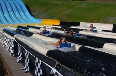 The Checkered Flag Challenge water slide: Race against your friends at our water park! #ThisIsMyBeach