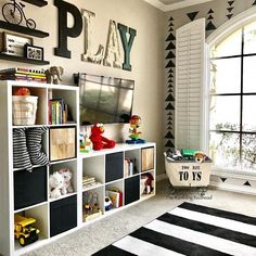 playroom ideas for boys * playroom ideas ; playroom ideas for toddlers ; playroom ideas for girls and boys ; playroom ideas on a budget ; playroom ideas for boys ; playroom ideas for toddlers boys Loft Playroom, Small Playroom, Toddler Playroom, Playroom Organization, Playroom Design, Playroom Decor, Organization Ideas, Storage Ideas, Small Kids Playrooms