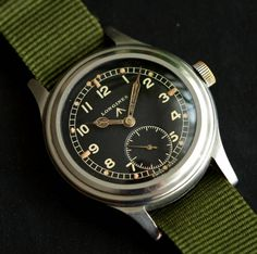 Superb Vintage Longines WWW Military Wristwatch In Stainless Steel