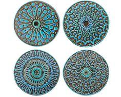 arte de pared marroqui hecho de cerámica arte exterior por GVEGA