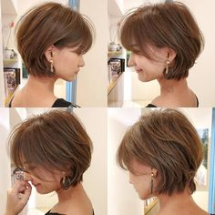 Asian Short Hair, Short Hairstyles For Thick Hair, Short Hair With Layers, Short Curly Hair, Short Hair Cuts, Thin Hair, Medium Hair Styles, Curly Hair Styles, Shot Hair Styles