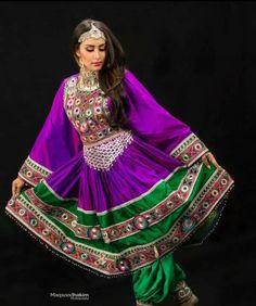 Traditional Afghan dress.