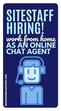 Work at home job alert!  SiteStaff is a chat service provider that allows all kinds of businesses to utilize online web receptionists via chat to assist online customers. Learn more! #hiring #jobs