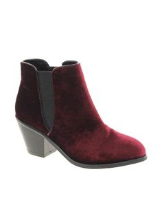 Faith Sepia Velvet Ankle Boots