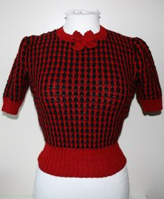 50s Outfits, Pin Up Outfits, Vintage Outfits, 1940s Fashion Women, Retro Fashion, Vintage Fashion, Girls Sweaters, Vintage Sweaters, Power Dressing