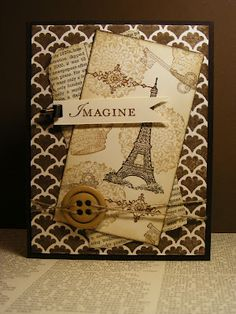 A La Cards: Monochromatic Man Card, stampin up