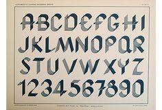 Art Deco Typography Sheet, Blue on OneKingsLane.com