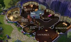 floor plan for hobbit home - Google Search