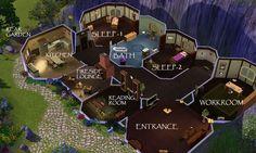 floor plan for hobbit home - Google Search