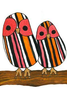 Erin Sherry, Nursery art, Vick and Guillermo, owl illustration, animal illustration, children's art