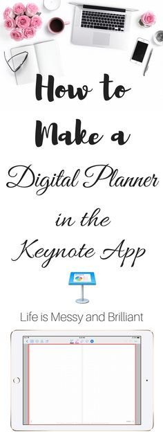 How to Make a Digital Planner with Hyperlinks - Ipad Pro - Trending Ipad Pro for sales. - How to Make a Digital Planner with Hyperlinks in the Keynote app Planner Apps, Planner Layout, Life Planner, Planner Stickers, Budget Planner, Planner Diy, College Planner, Student Planner, Fitness Planner